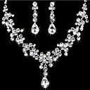 cheap Jewelry Sets-Women's Rhinestone Jewelry Set Earrings / Necklace - For Wedding / Party / Birthday