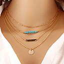 preiswerte Modische Halsketten-Damen Türkis Mehrschichtig Halskette - Türkis Retro, Freizeit, Modisch Gold Modische Halsketten Schmuck Für Besondere Anlässe, Geburtstag, Geschenk