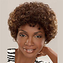 cheap Human Hair Capless Wigs-Synthetic Wig Curly Synthetic Hair African American Wig Brown Wig Women's Short Capless