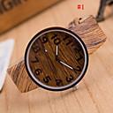 baratos Smartwatches-Homens Relógio de Pulso Quartzo 30 m Relógio Casual PU Banda Analógico Amuleto Madeira Cores Múltiplas - # 4 # 5 # 6