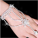 cheap Bracelets-Women's Wrap Bracelet Ring Bracelet / Slave bracelet - Rhinestone, Silver Plated, Imitation Diamond Star Bracelet White For Party Daily