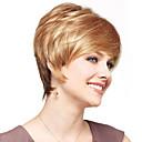 お買い得  人毛キャップレスウイッグ-人間の毛のキャップレスウィッグ 人毛 ストレート キャップレス かつら