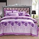 preiswerte Luxus Duvet Covers-Bettbezug-Sets Blumen 4 Stück Baumwolle Reaktivdruck Baumwolle 1 Stk. Bettdeckenbezug 2 Stk. Kissenbezüge 1 Stk. Betttuch