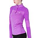 voordelige Fitness-, hardloop- en yogakleding-Dames Yoga Top - Rose Rood, Blauw, Grijs Sport T-shirt / Kleding Bovenlichaam Pilates, Training&Fitness, Hardlopen Lange mouw Sportkleding