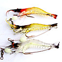 cheap Fishing Lures & Flies-3 pcs Soft Bait Fishing Lures Craws / Shrimp Soft Bait Soft Plastic Luminous Lure Fishing