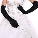 cheap Party Gloves-Elastic Satin / Spandex Fabric Opera Length Glove Bridal Gloves / Party / Evening Gloves With Ruffles