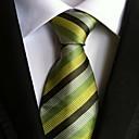 ieftine Ceasuri La Modă-Bărbați Dungi Petrecere Birou De Bază, Poliester - Cravată