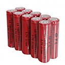 halpa USB-10kpl GTL 18650 3.7v 5300mah ladattava litium-akut punainen