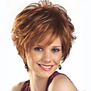 cheap Synthetic Capless Wigs-Synthetic Wig Wavy Synthetic Hair Brown Wig Women's Short Capless Brown
