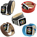 halpa Pumput & Seisontatuet-Watch Band varten Apple Watch Series 4/3/2/1 Apple Perinteinen solki Aito nahka Rannehihna