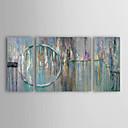 preiswerte Kunstdrucke-Hang-Ölgemälde Handgemalte - Abstrakt Modern Segeltuch