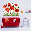 preiswerte Wand-Sticker-Dekorative Wand Sticker - Flugzeug-Wand Sticker Weihnachten / Blumen / Feiertage Wohnzimmer / Schlafzimmer / Studierzimmer / Büro