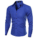 cheap Tools, Cleaners & Lubricants-Men's Work Plus Size Cotton Slim Shirt - Solid Colored Basic Spread Collar / Long Sleeve