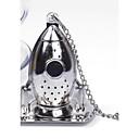 baratos Café e Chá-difusor de infusor de chá de foguete filtro de folhas soltas filtro de tempero de aço inoxidável