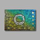 halpa Kukkamaalaukset-Hang-Painted öljymaalaus Maalattu - Abstrakti Moderni Kangas / Venytetty kangas