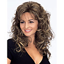 cheap Human Hair Wigs-Synthetic Wig Women's Curly / Wavy Brown Synthetic Hair Brown Wig Medium Length Capless Brown