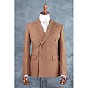 זול חליפות-חום משובץ\משובץ שחור לבן גזרה מחוייטת תערובת כותנה חליפה - פתוח Double Breasted Four-button