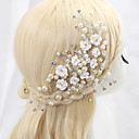 cheap Party Headpieces-Cubic Zirconia / Alloy Flowers with 1 Wedding / Special Occasion Headpiece