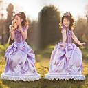 cheap Movie & TV Theme Costumes-Satin Purple Princess Little Girls' Ball Gown Dress Snow Princess