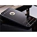 abordables Fundas para Teléfono & Protectores de Pantalla-Funda Para Apple iPhone 6 iPhone 6 Plus Cromado Espejo Funda Trasera Color sólido Dura Metal para