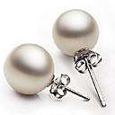 cheap Bracelets-Women's Imitation Pearl Drop Earrings - White