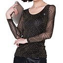 Mujer Tallas Grandes Malla - Camiseta A Rayas Nailon