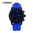 hesapli Elbise Saat-SINOBI Erkek Quartz Bilek Saati Spor Saat Su Resisdansı Spor Saat Silikon Bant İhtişam Mavi