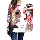 cheap Halloween & Carnival Costumes-Women's Boho Batwing Sleeve Oversized Blouse - Floral