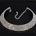 olcso Divat nyaklánc-Női Szintetikus gyémánt Teniszlánc Rövid nyakláncok - Strassz Menyasszonyi Nyakláncok Ékszerek Kompatibilitás Esküvő, Parti