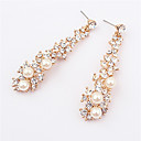 cheap Keychains-Women's Pearl Long Drop Earrings - Pearl, Imitation Pearl, Rhinestone European, Fashion Screen Color For