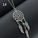 cheap Bike Lights & Reflectors-Women's Tassel Pendant Necklace - Feather Tassel, Fashion Silver, 1#, 2# Necklace For Wedding, Party, Daily
