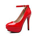 preiswerte Damen Heels-Damen Schuhe Vlies / Kunstleder Frühling / Sommer Stöckelabsatz / Plattform Schwarz / Beige / Rot / Hochzeit / Party & Festivität / Kleid