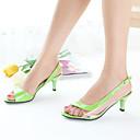 halpa Naisten sandaalit-Naisten Kengät Tekonahka Kevät / Kesä Stilettikorko Split Joint Sininen / Pinkki / Koralli