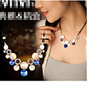 cheap Necklaces-Women's Crystal Statement Necklace - Opal Green, Blue Necklace For Party
