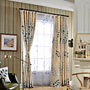 cheap Sheer Curtains-Curtains Drapes Two Panels Bedroom Linen / Cotton Blend Print