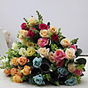 cheap Table Cloths-Artificial Flowers 1 Branch European Style Roses Tabletop Flower