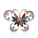 cheap Brooches-Women's Brooches - Rhinestone, Silver Plated, Imitation Diamond Butterfly, Animal Personalized, Luxury, European Brooch Blue / Rainbow For Wedding / Party / Casual