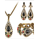 cheap Jewelry Sets-Jewelry Set - Cubic Zirconia Vintage, Party, Link / Chain Include Gold For Party / Special Occasion / Anniversary / Earrings / Necklace