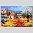 cheap Still Life Paintings-Oil Painting Hand Painted - Landscape Classic Modern Realism Canvas
