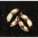 cheap Men's Bracelets-Women's Statement Ring - Titanium Steel, Gold Plated Fashion 5 / 6 / 7 / 8 / 9 Golden For Wedding Party Daily