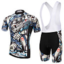 cheap Water Transfer Nail Stickers-XINTOWN Short Sleeves Cycling Jersey with Bib Shorts Bike Bib Shorts Jersey Clothing Suits, Quick Dry, Ultraviolet Resistant, Breathable,