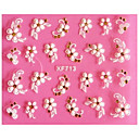 cheap Nail Stickers-3d emboss cinquefoil nail stickers
