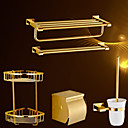 cheap Party Headpieces-Bathroom Accessory Set Contemporary Brass 5pcs - Hotel bath Toilet Paper Holders / tower bar / Bathroom Shelf