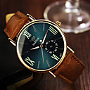 abordables Relojes de Hombre-Hombre Reloj de Pulsera Cuarzo 30 m Piel Banda Analógico Marrón - Negro Azul Real / Acero Inoxidable