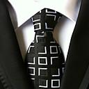 tanie Akcesoria dla mężczyzn-Męskie Luksusowy / Kratka / Klasyczny Modne Krawat Kreatywne