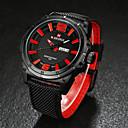 baratos Relógios Militares-Homens Relógio de Pulso Calendário / Impermeável Tecido Banda Preta / Marrom / Aço Inoxidável