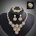 cheap Rings-Layered Jewelry Set - Flower Vintage, Party, Link / Chain Include Gold For / Earrings / Necklace
