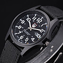 お買い得  軍用腕時計-男性用 軍用腕時計 リストウォッチ フィールドウォッチ クォーツ ブラック / 白 / ブラウン ハンズ アリスト - グリーン ブルー ホワイト-ブラック 1年間 電池寿命 / ステンレス / SSUO 377