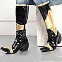 billige Herrestøvler-Herre Fashion Boots Syntetisk Høst / Vinter Komfort / Motorsykkelstøvler Støvler Svart / Fest / aften