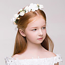 cheap Party Headpieces-Fabric Plastic Wreaths 1 Wedding Special Occasion Outdoor Headpiece